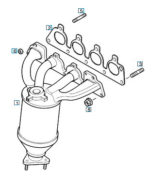 Opel Astra G katalizátor
