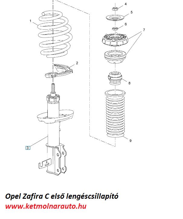 Opel Zafira lengéscsillapító cseréje