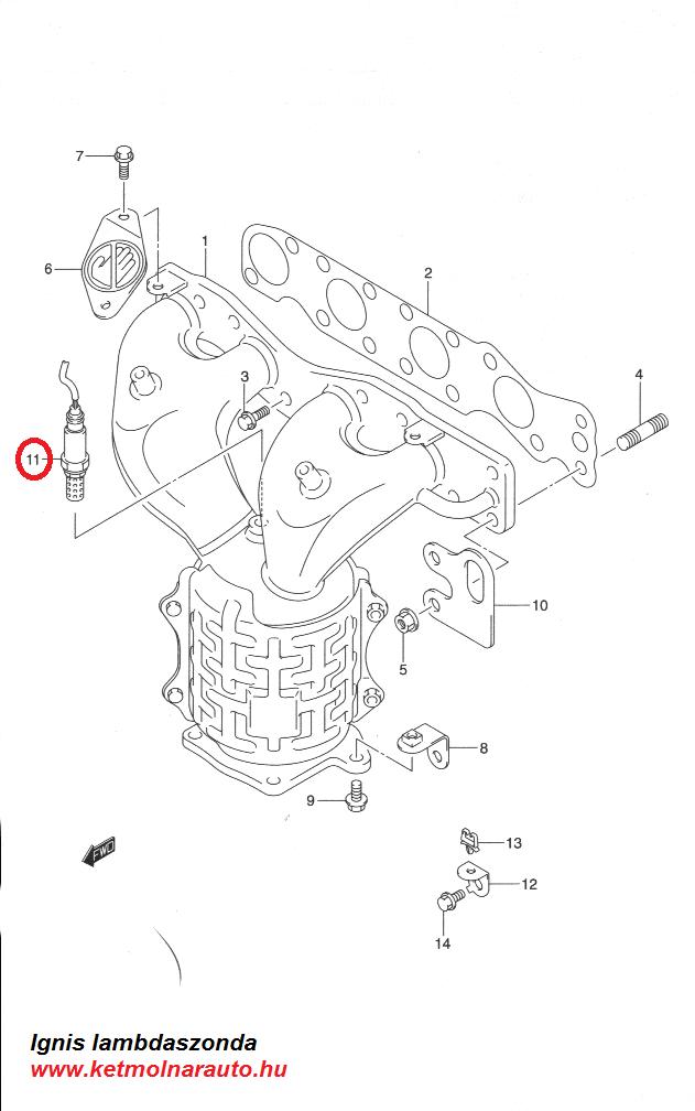 Suzuki Ignis lambdaszonda ár